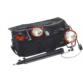 ISO VIDEO KIT MANDARINE 3X800W PIED/SAC VOLET