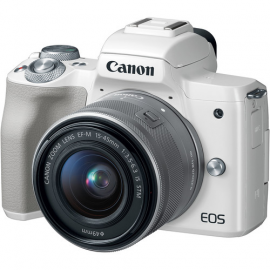 CANON EOS M50 BLANC + EF-M 15-45 IS STM