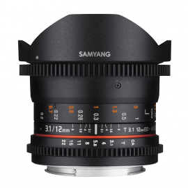 SAMYANG VIDEO 12MM T 3.1 VDSLR NIKON FISHEYE