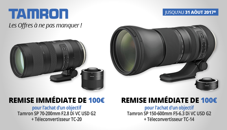 OFFRE DE REMISES IMMEDIATES TAMRON