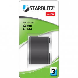 STARBLITZ VIDEO BATTERIE CANON SB-E6+