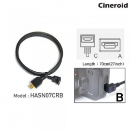 CINEROID CABLE HDMI-MINI COUDE 70CM CRB
